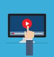 media online video concept vector image vector image