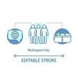 multisport trip concept icon vector image