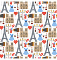 paris famous travel cuisine traditional vector image vector image