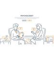 psychologist - modern line design style web banner vector image vector image