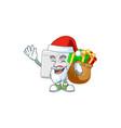 santa first aid kit cartoon character design vector image vector image