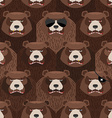 Seamless pattern of brown angry bear A flock of vector image vector image