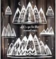 set of geometric mountains symbols vector image