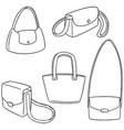 set of shoulder bag vector image