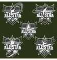 set of vintage sports all star crests vector image vector image