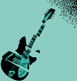 Shredded Guitar Music background vector image vector image
