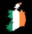 silhouette country borders map of ireland on vector image vector image