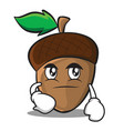 smirking acorn cartoon character style vector image vector image