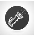Sports flashlight black round icon vector image