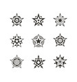 star icon and logo set vector image vector image