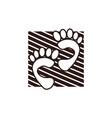 team work step logo design template vector image