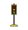 traffic light semaphore vector image vector image