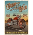 Vintage motorcycle poster vector image vector image