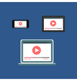 Web Template of Adaptive Video Form vector image vector image