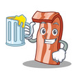 with juice bacon mascot cartoon style vector image vector image