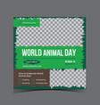 world animal day social media instagram post