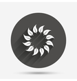 Wreath of leaves sign icon Leaf circle symbol vector image vector image