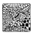 Zentangle ornament sketch for your design vector image