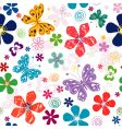 spring seamless white floral pattern vector image