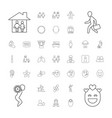 37 people icons vector image vector image