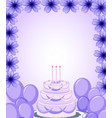 a purple birthday template vector image vector image