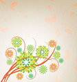 Abstract background with flowers vector image vector image