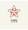 Abstract Flower Template for logo emblem vector image
