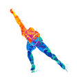 abstract speed skaters vector image vector image