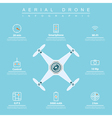 aerial drone infographic vector image vector image