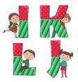 Alphabet kids IJKL vector image vector image