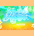 background sea beach palm best vacation vector image
