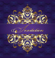 baroque style pattern vintage invitation design vector image