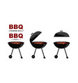 bbq party barbecue set in style bbq grill summer vector image