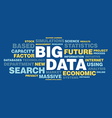 Big data concept in word tag cloud vector image
