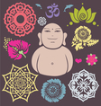 Buddha floral collection vector image vector image