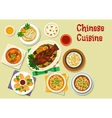 Chinese cuisine icon for oriental dinner design vector image vector image
