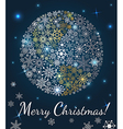 Christmas background Planet made from snowflakes vector image vector image
