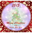 Christmas background with ornaments retro vector image vector image