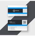 clean blue modern business card design vector image vector image