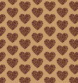 Coffee Pattern heart vector image vector image
