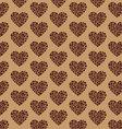 coffee pattern heart vector image
