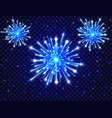 color neon fireworks in the night sky bright vector image vector image