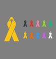 colorful awareness ribbons vector image