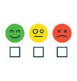 concept satisfaction rating emoji positive vector image