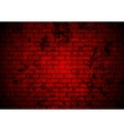 Dark red grunge brick wall background vector image