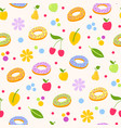 donuts tasty coockie pattern vector image