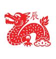 dragon lunar symbol vector image vector image