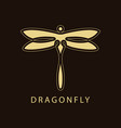 dragonfly luxury logo template vector image