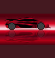 extremely fast car vector image