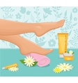 Female Feet Spa Concept vector image